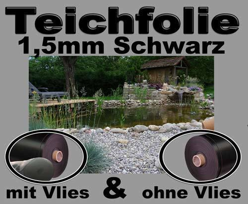 pvc teichfolie schwarz 1 5 mm gartenteichfolie teichfolien. Black Bedroom Furniture Sets. Home Design Ideas
