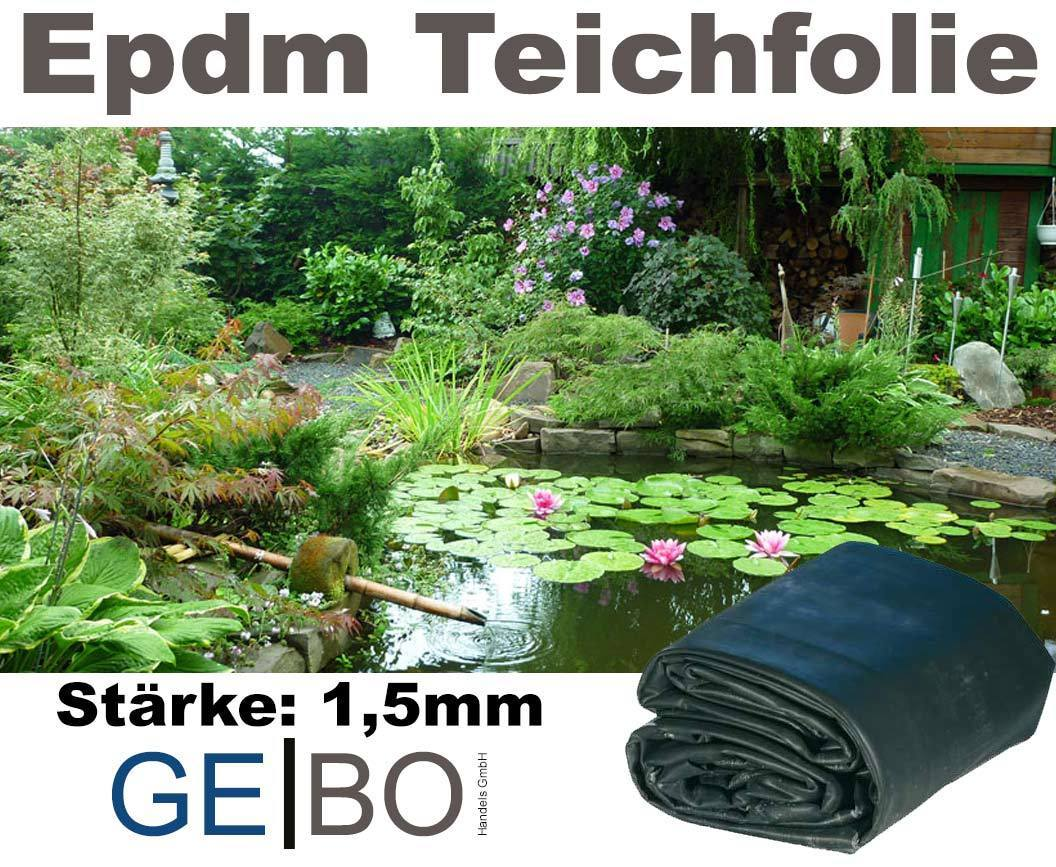EPDM Folie 1,5 mm 10,60 €//m² inkl Versand