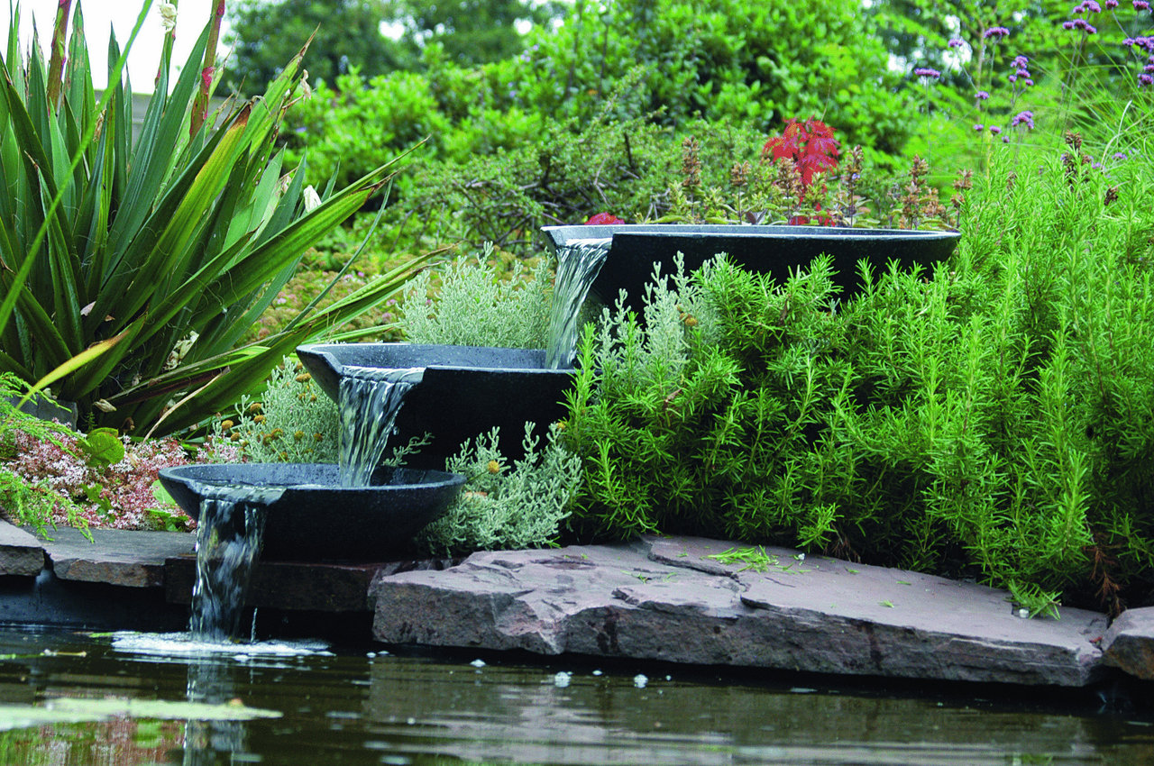 Ubbink Terrassenbrunnen Wasserspiel London : Ubbink Nova Scotia Wasserspiel Teich Brunnen , 1312100