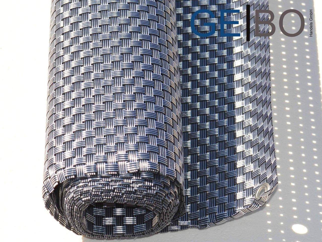 Rattan Sichtschutz Balkonblende Sichtschutz Silber Grau