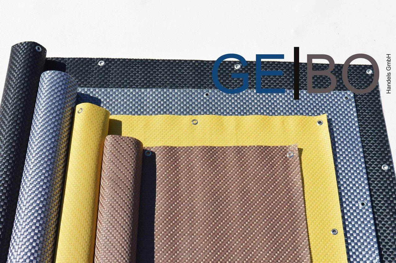 rattan sichtschutz balkonblende sichtschutz schwarz kordel. Black Bedroom Furniture Sets. Home Design Ideas